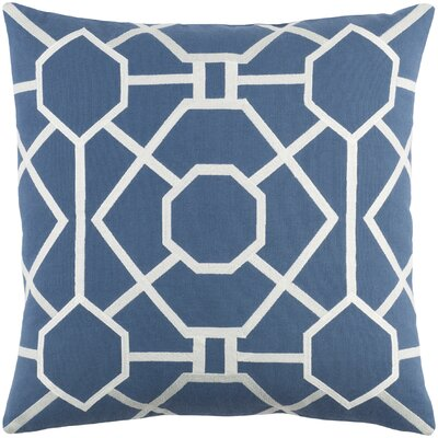 Kingdom Porcelain Cotton Throw Pillow Cover Color: Blue/ White