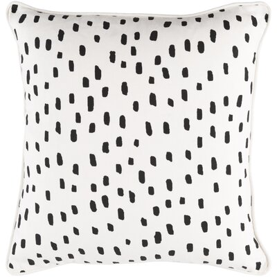 Carnell Dalmatian Dot Cotton Throw Pillow Color: White/ Black