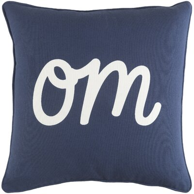 Carnell Om Cotton Throw Pillow