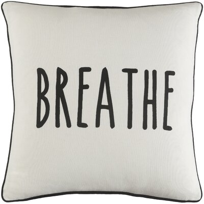 Carnell Breathe Cotton Throw Pillow Color: White/ Black