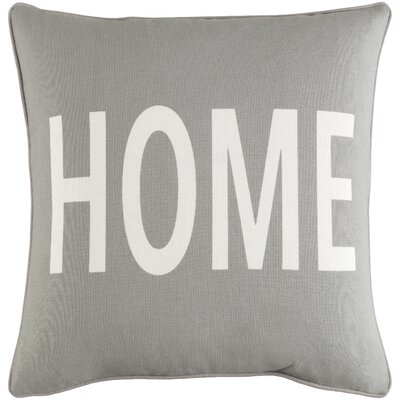 Carnell Home Square Cotton Throw Pillow Color: Gray/ White