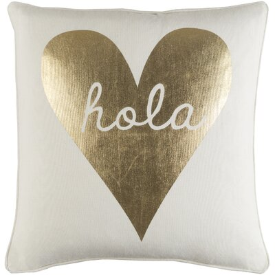 Carnell Hola Heart Cotton Throw Pillow