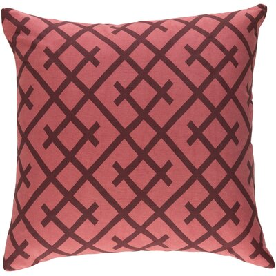 Juliano Pillow Cover Color: Terra Cotta/Burgundy