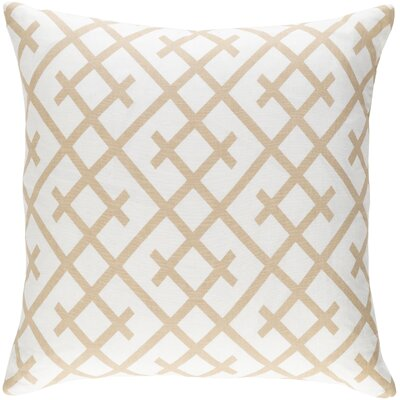 Juliano Pillow Cover Color: White/Tan