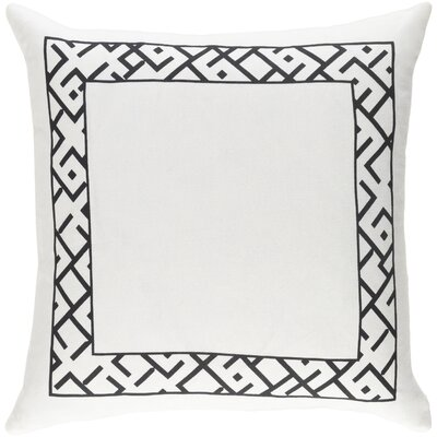 Jung Pillow Color: White/Black