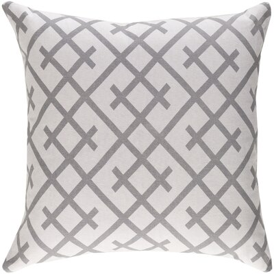 Juliano Pillow Cover Color: Light Gray/Dark Gray
