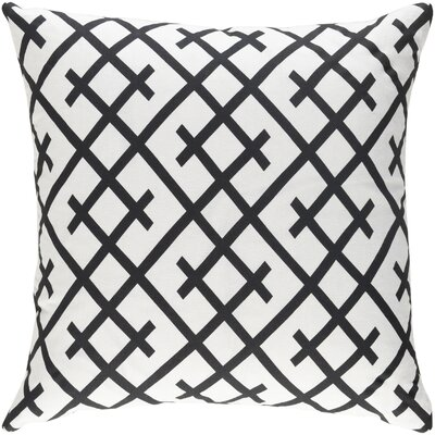 Juliano Pillow Cover Color: Black/White