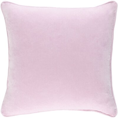 Baylie Cotton Velvet Throw Pillow Color: Light Pink, Fill Material: Polyester