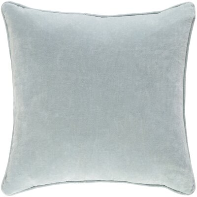 Baylie Solid Cotton Velvet Pillow Cover Color: Mint