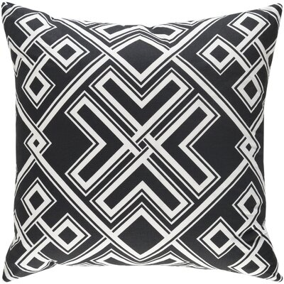 Junkins Pillow Cover Color: Black/White