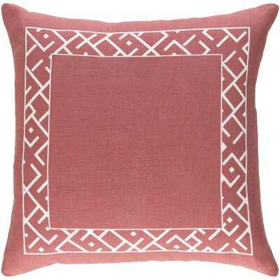 Jung Pillow Color: Terra Cotta/White