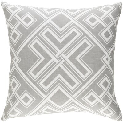 Junkins Pillow Cover Color: Gray/White