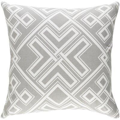 Ethiopia Togo Pillow Cover Color: Gray/White