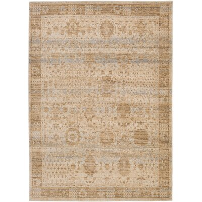 Dineen Brown Area Rug Rug Size: Rectangle 53 x 73