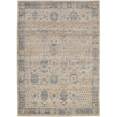Dineen Blue Area Rug Rug Size: Rectangle 53 x 73