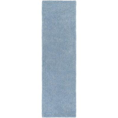 Eckman Light Blue Area Rug Rug Size: Runner 23 x 8