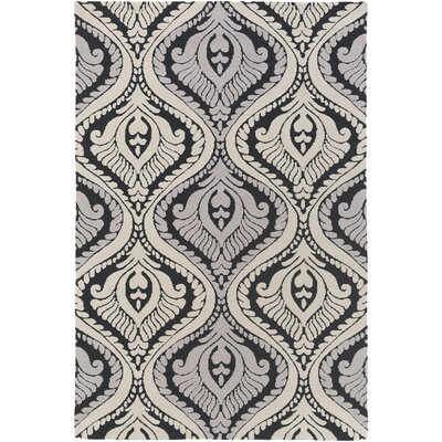Mangus Black/Ivory Area Rug Rug Size: Rectangle 3 x 5