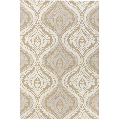 Langevin Straw/Ivory Area Rug Rug Size: Rectangle 5 x 76