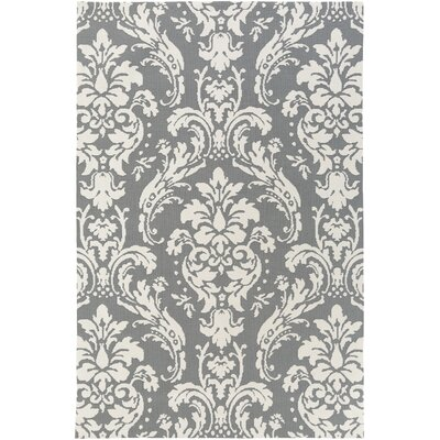 Lade Gray/Ivory Area Rug Rug Size: Rectangle 3 x 5