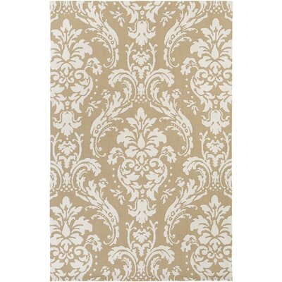 Lade Straw/Ivory Area Rug Rug Size: Rectangle 5 x 76