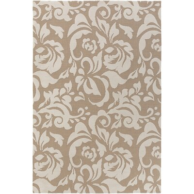 Ducote Tan/Ivory Area Rug Rug Size: Rectangle 5 x 76