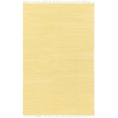 Devaughn Hand-Woven Gold Area Rug Rug Size: Rectangle 76 x 96
