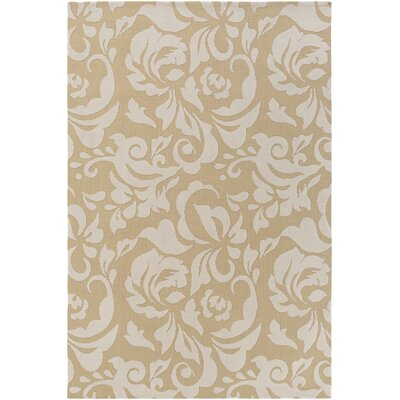 Ducote Straw/Ivory Area Rug Rug Size: Rectangle 2 x 3