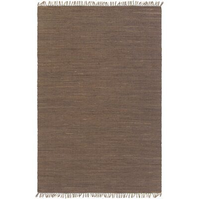 Devaughn Hand-Woven Brown Area Rug Rug Size: Rectangle 76 x 96