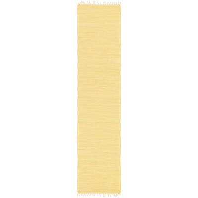 Devaughn Hand-Woven Gold Area Rug Rug Size: Runner 23 x 12