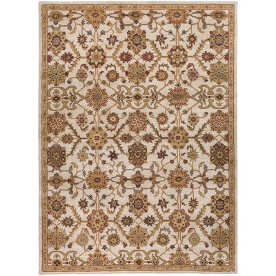 Philson Hand-Tufted Tan/Gray Area Rug Rug Size: Rectangle 9 x 13