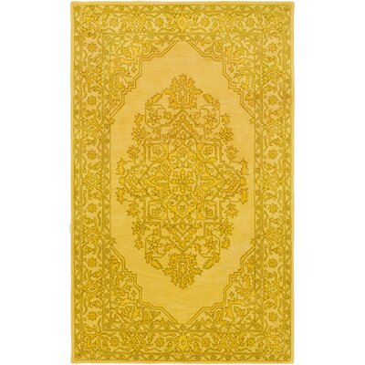 Farner Hand-Tufted Bright Yellow Area Rug Rug Size: Rectangle 8 x 10