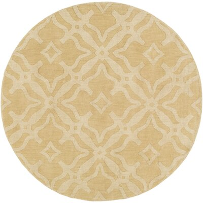 Dutchess Handmade Cream Area Rug Rug Size: Round 6