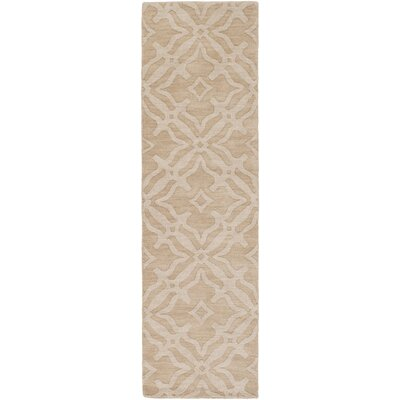 Dutchess Handmade Beige/Ivory Area Rug Rug Size: Runner 23 x 10