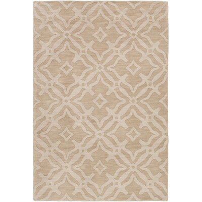 Dutchess Handmade Beige/Ivory Area Rug Rug Size: Rectangle 4 x 6