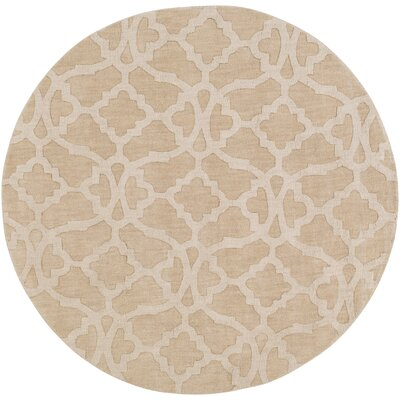 Dylan Hand-Loomed Beige Area Rug Rug Size: Round 79