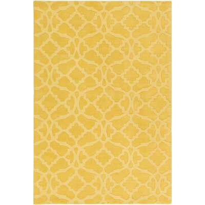 Dylan Hand-Woven Yellow Area Rug Rug Size: Rectangle 9 x 12