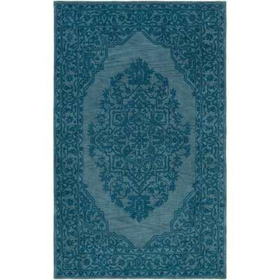 Kikkerland Hand-Tufted Teal Area Rug Rug Size: Rectangle 5 x 8