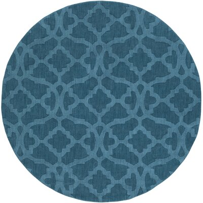 Dylan Hand-Woven Electric Blue Area Rug Rug Size: Round 79