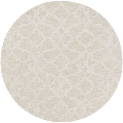 Dylan Handmade Ivory Area Rug Rug Size: Round 99