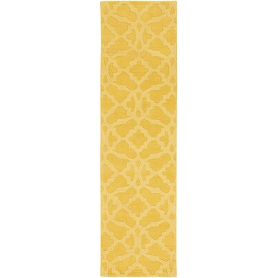 Dylan Hand-Woven Yellow Area Rug Rug Size: Runner 23 x 14
