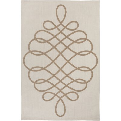 Kersten Ivory/Tan Area Rug Rug Size: Rectangle 3 x 5