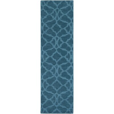 Dylan Hand-Woven Electric Blue Area Rug Rug Size: Runner 23 x 14