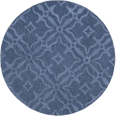 Dutchess Handmade Blue Area Rug Rug Size: Round 79