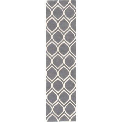 Transit Watson Hand-Tufted Gray/Beige Area Rug Rug Size: Runner 2 x 8