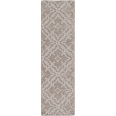 Dutchess Handmade Gray Area Rug Rug Size: Runner 23 x 12