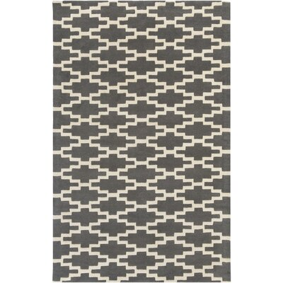 Lococo Hand-Tufted Gray/Ivory Area Rug Rug Size: Rectangle 5 x 8