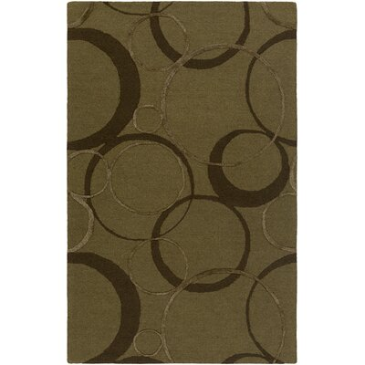 Moyes Hand-Tufted Chocolate Area Rug Rug Size: Rectangle 5 x 8