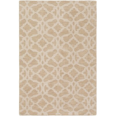 Dylan Hand-Loomed Beige Area Rug Rug Size: Rectangle 6 x 9