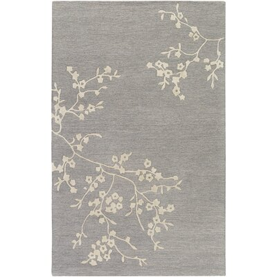 Kerney Hand-tufted Gray/Beige Area Rug Rug Size: Rectangle 5 x 8