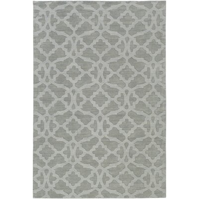 Dylan Handmade Light Gray Area Rug Rug Size: Rectangle 5 x 76